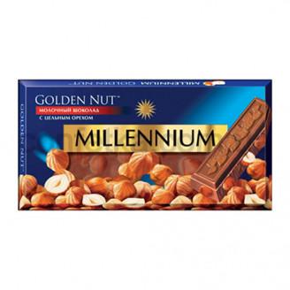 Шоколад Голд молочный с цельным орехом 100 гр.