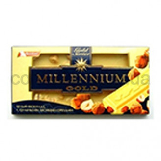 Шоколад Голд белый с цельным орехом 100 гр.