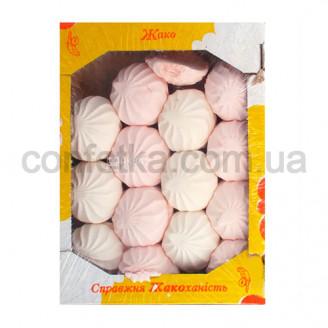 Зефир бело-розовый
